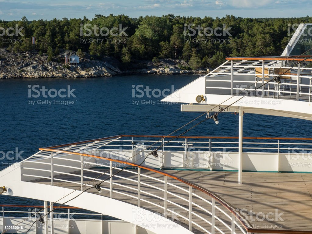 the baltic sea in sweden stock photo