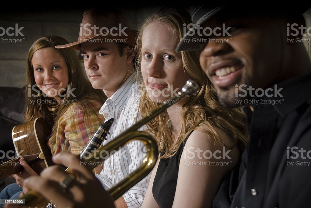 The Band is Here stock photo