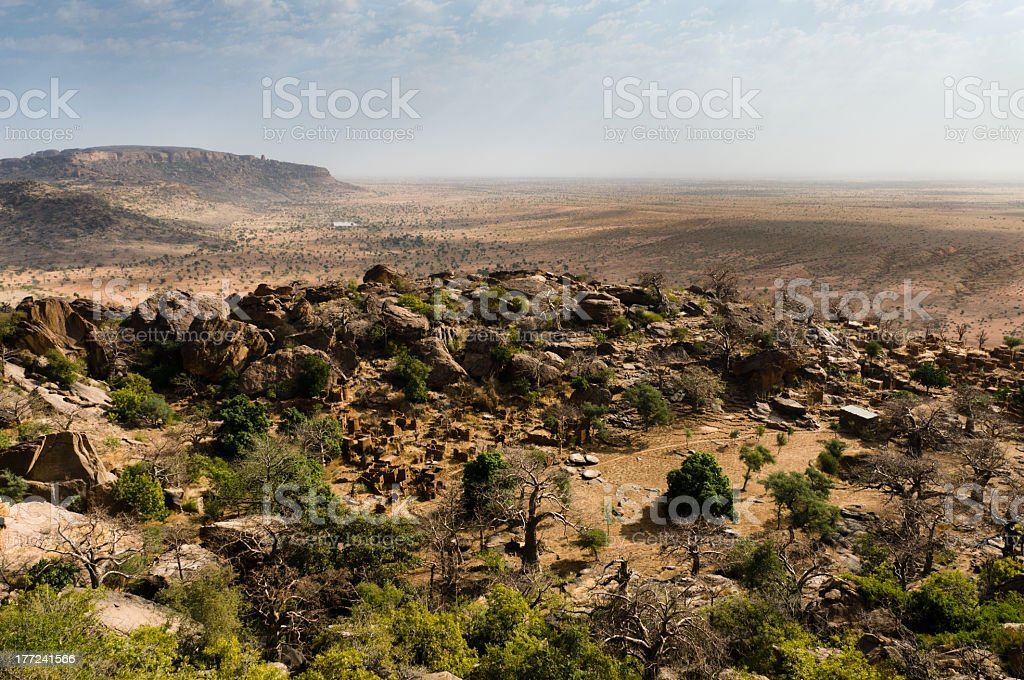 The Bandiagara Escarpment, Mali, West Africa stock photo