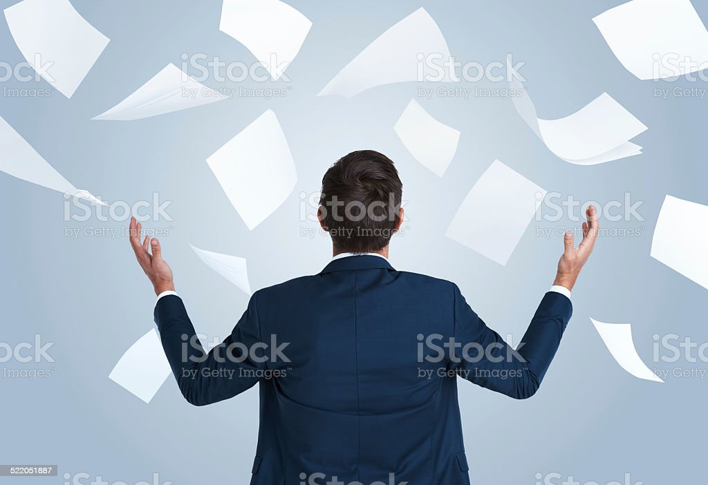 The bane of the businessman stock photo