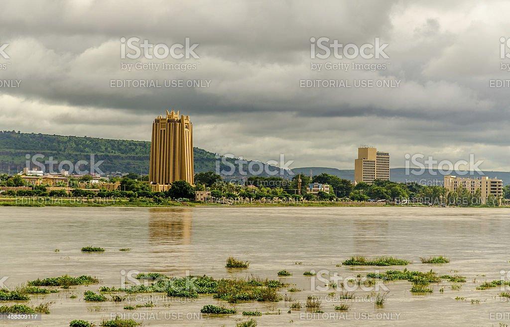 The Bank Of Africa In Bamako (Mali) stock photo