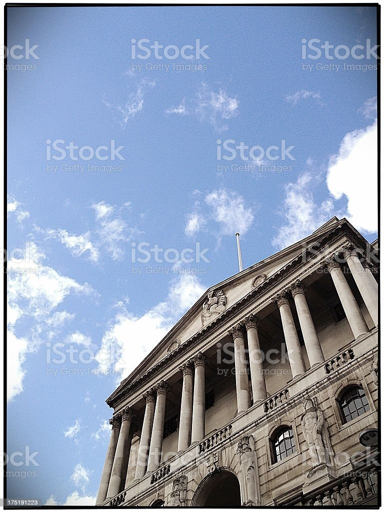 The Bank of England, London royalty-free stock photo