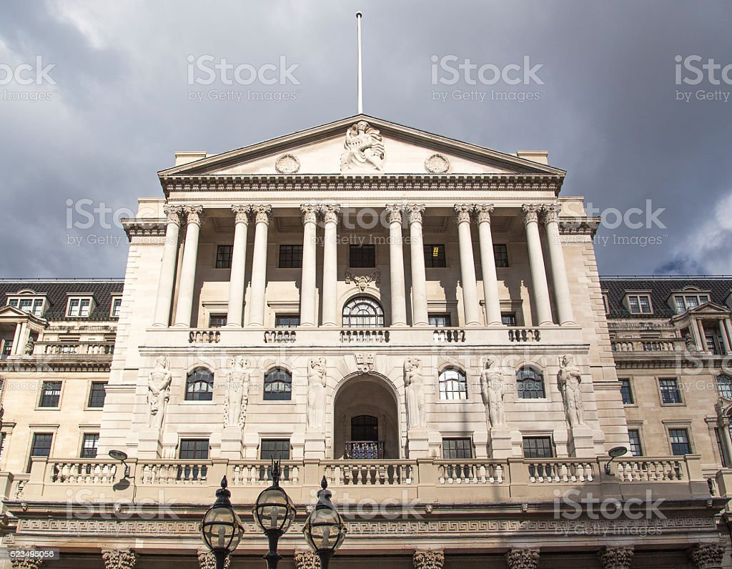 The Bank of England stock photo