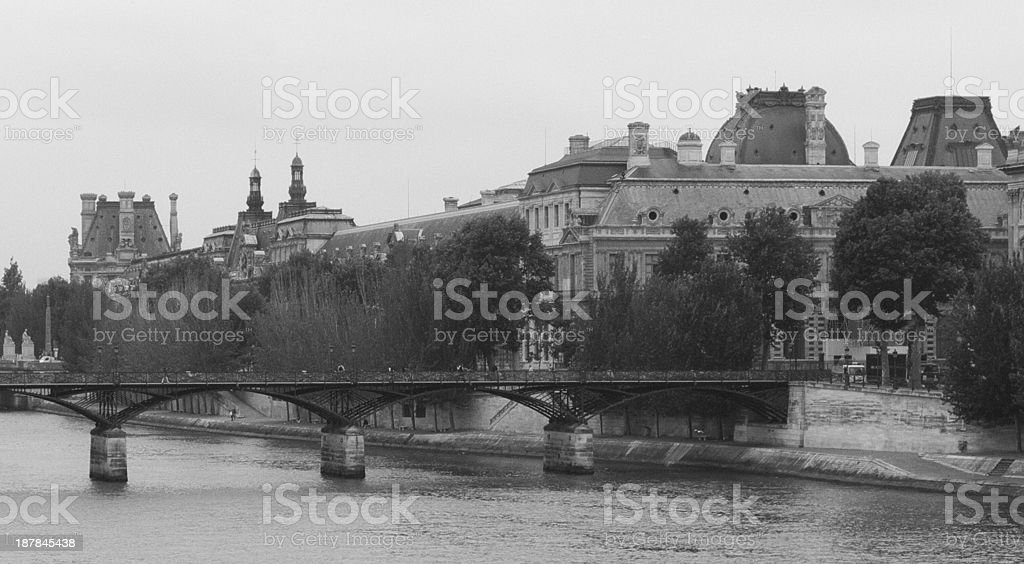 The Bank of Seine River royalty-free stock photo