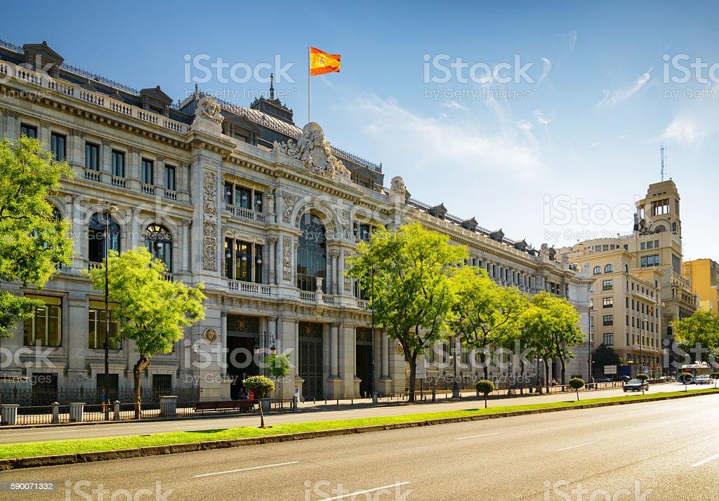 The Bank of Spain (Banco de Espana) stock photo