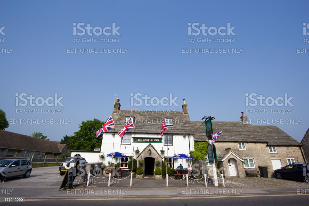 The Bankes Arms in Corfe, England royalty-free stock photo