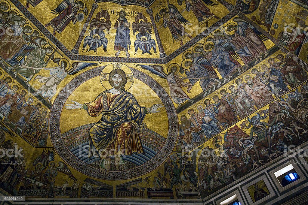 The Baptistry of San Giovanni - Florence stock photo