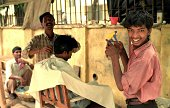 The barber's smile