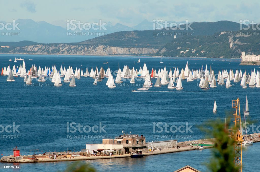 The Barcolana regatta stock photo
