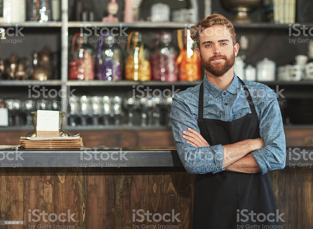 The barista who brews it best stock photo