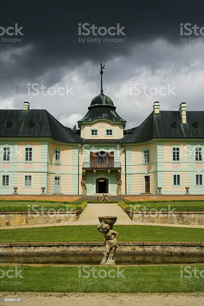 the baroque castle Manetin royalty-free stock photo