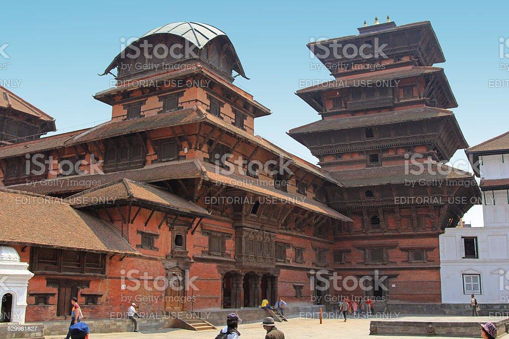 The Basantapur Durbar, Kathmandu Tower in Nepal stock photo