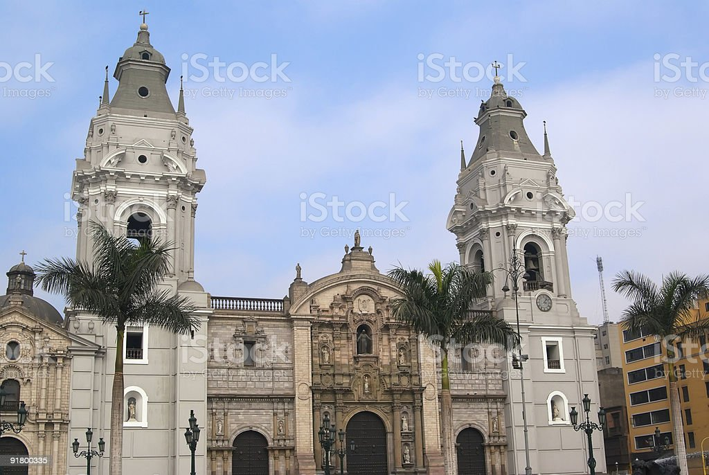 The Basilica Cathedral of Lima royalty-free stock photo