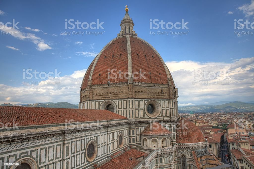 The Basilica di Santa Maria del Fiore HDR royalty-free stock photo