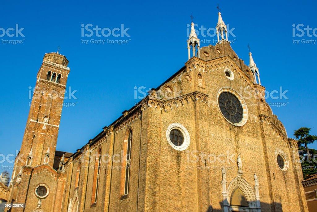 The Basilica di Santa Maria Gloriosa dei Frari stock photo