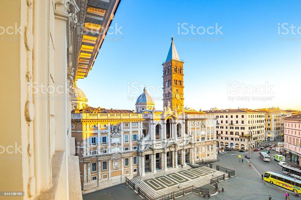 The Basilica di Santa Maria Maggiore in Rome, Italy stock photo