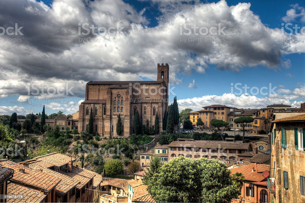 The Basilica of San Domenico stock photo