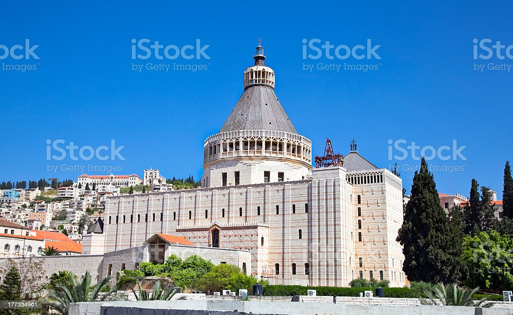 The Basilica of the Annunciation in Nazareth, Israel stock photo