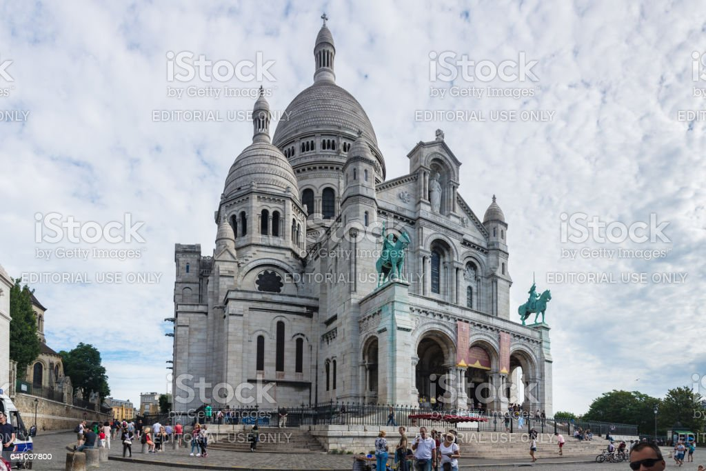The Basilica of the Sacred Heart of Paris royalty-free stock photo