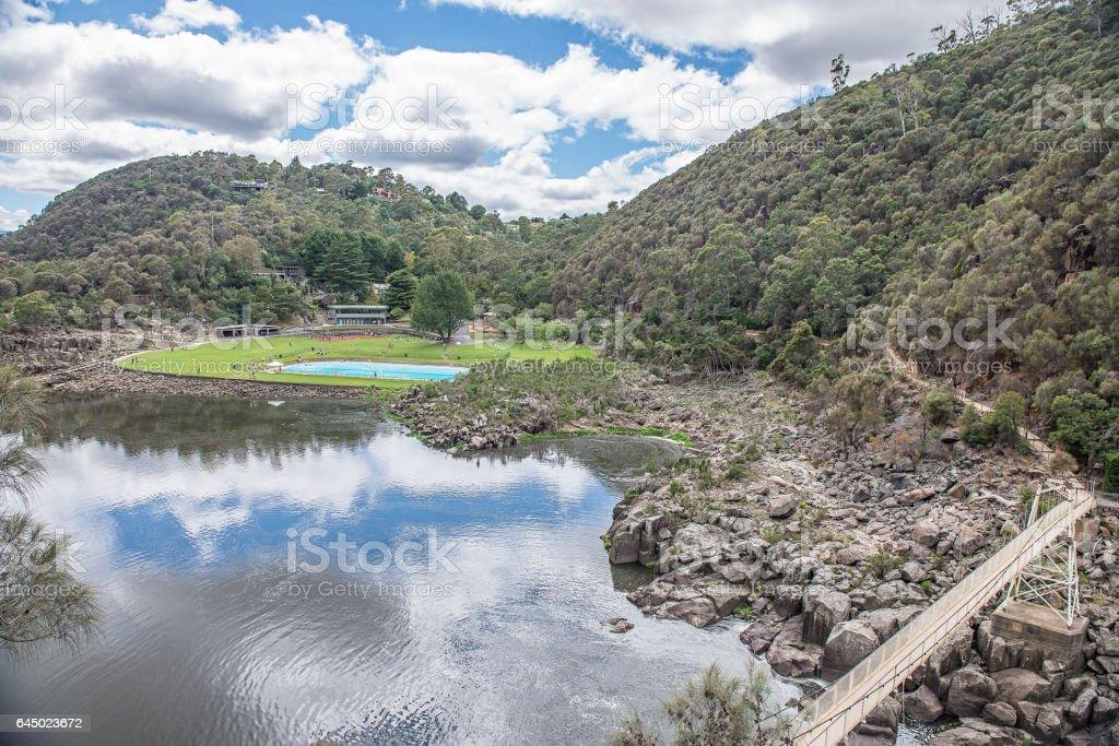 The Basin, Cataract Gorge, Launceston, Tasmania stock photo