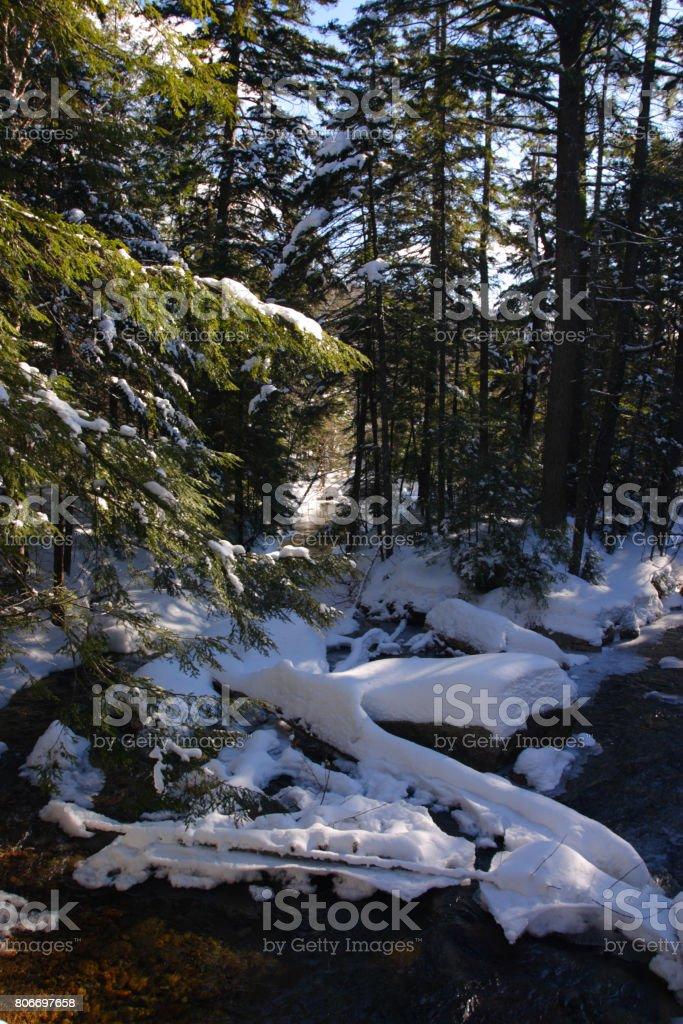 The basin, New Hampshire stock photo