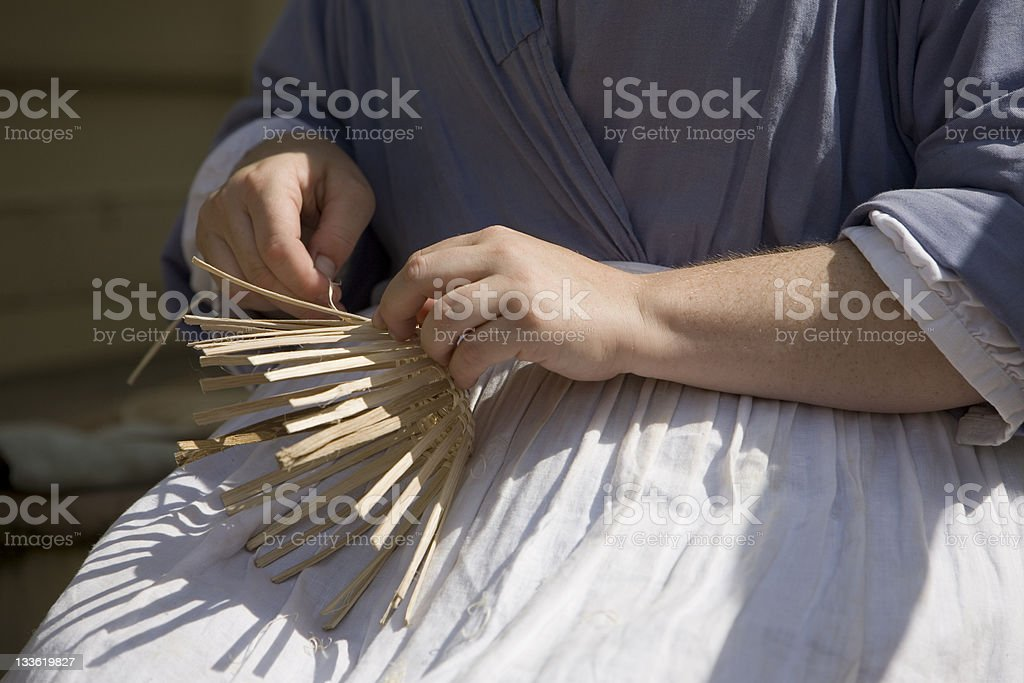 The basket weaver stock photo