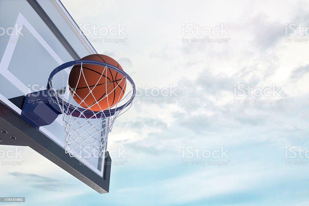 The Basketball Score stock photo