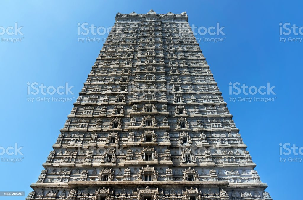 the bas-Reliefs of Indian religion in the Church of the great Shiva. MURUDESHWAR stock photo