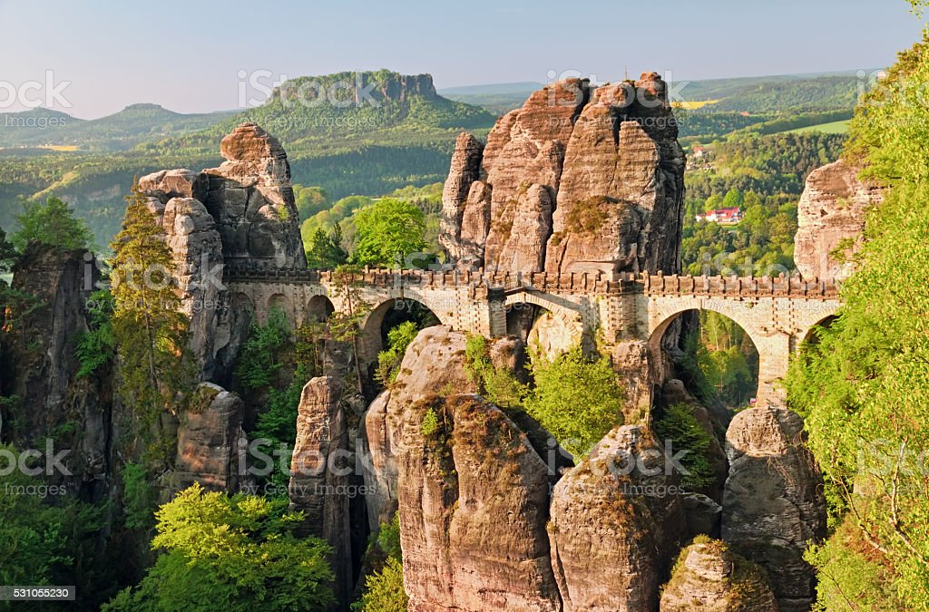 The Bastei Bridge stock photo