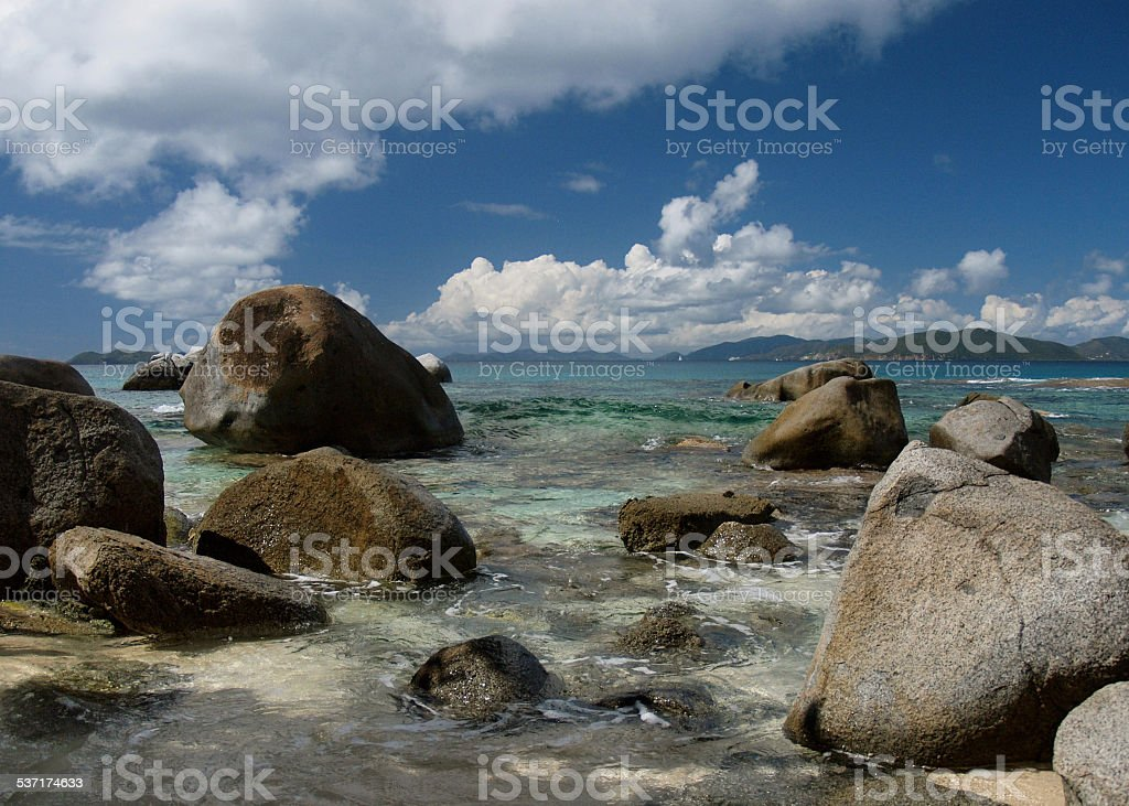 The Baths at Spring Bay, Virgin Gorda stock photo