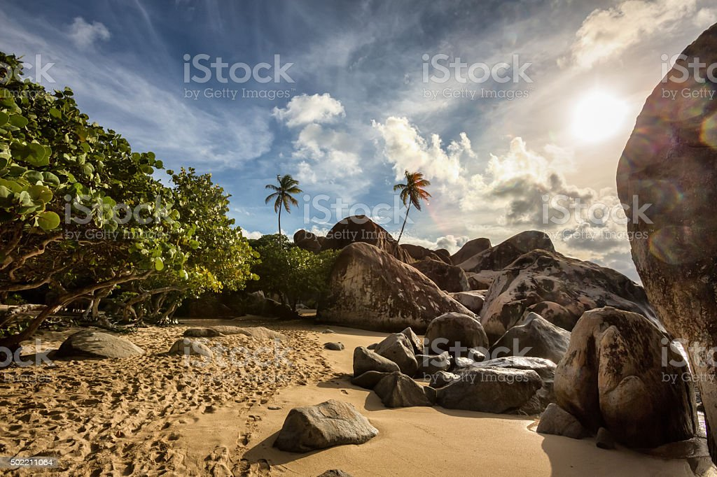 The Baths at Virgin Gorda stock photo