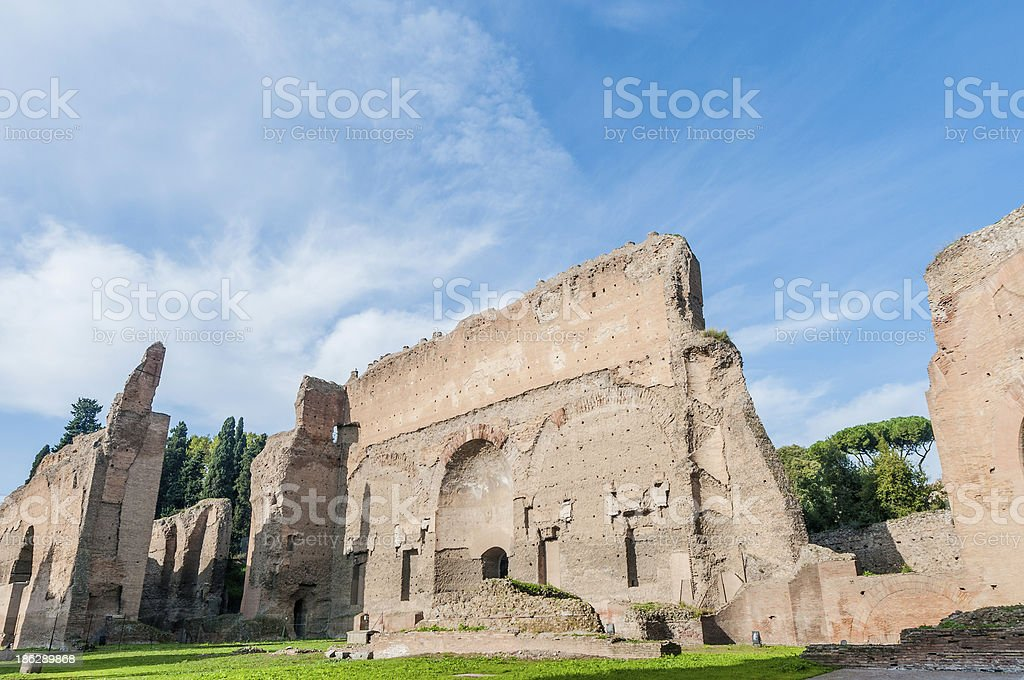 The Baths of Caracalla in Rome, Italy royalty-free stock photo