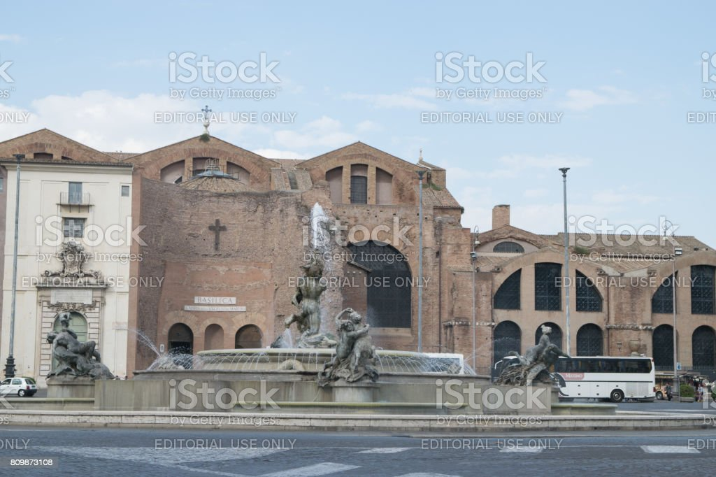 The baths of Diocletian. Rome. Italy stock photo
