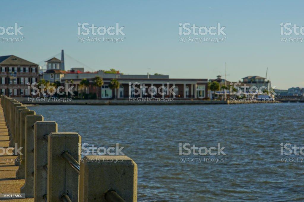 The Battery in Charleston South Carolina stock photo