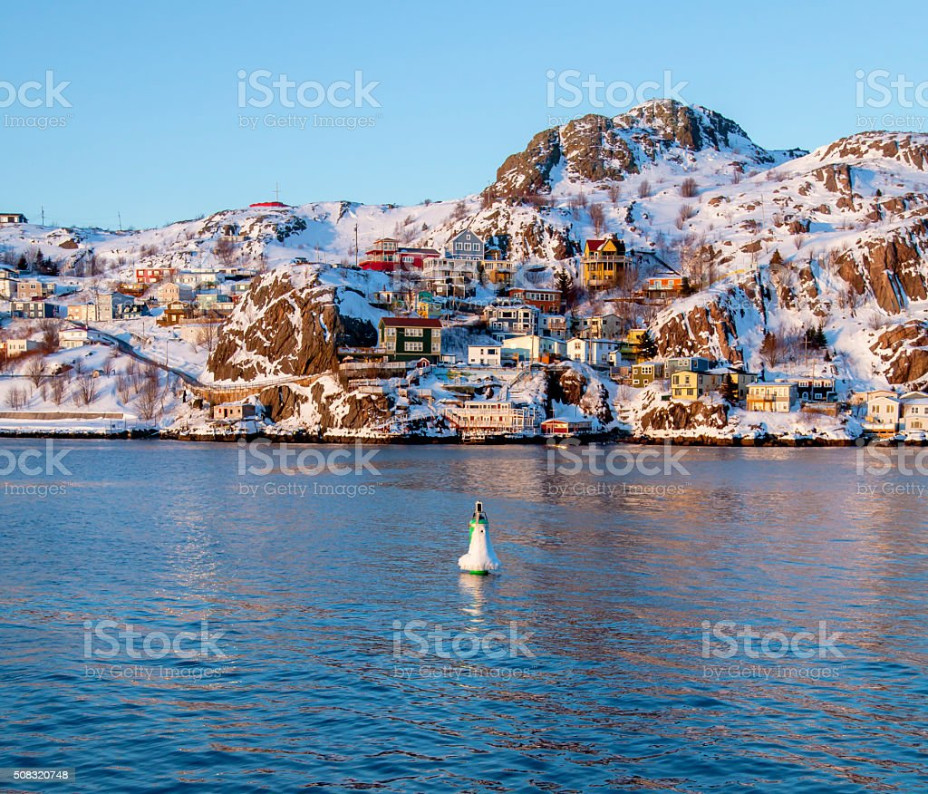 The Battery in St. John's, Canada. stock photo