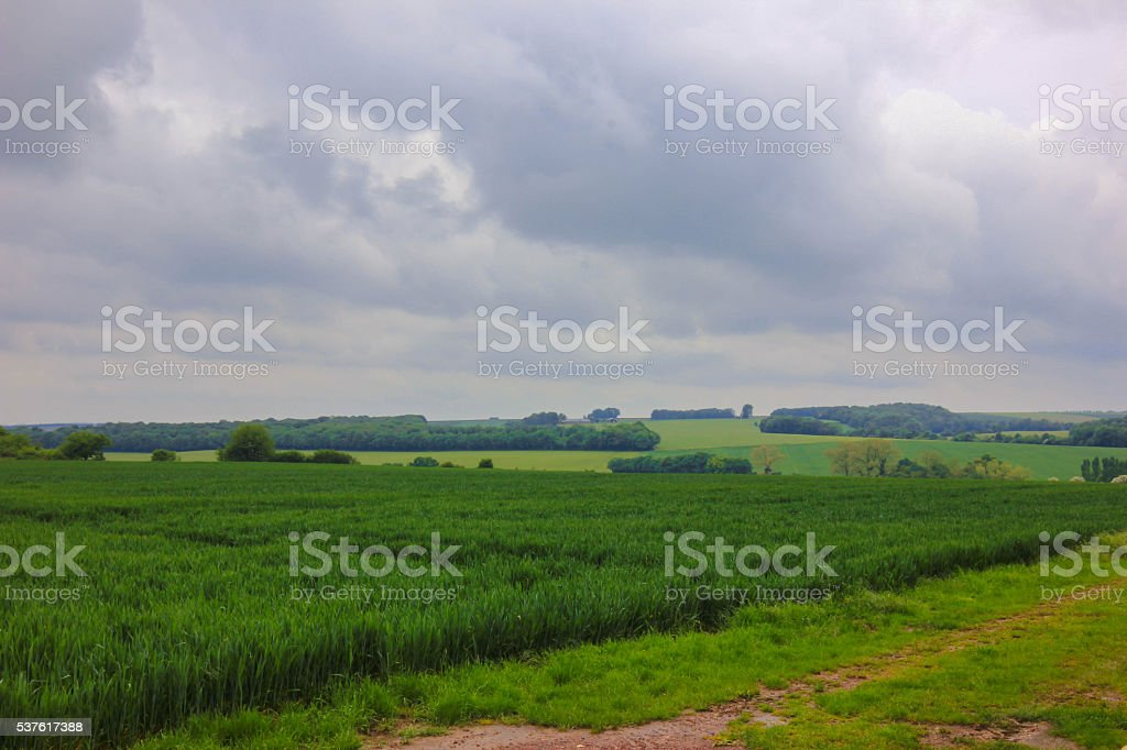 The Battle of the Somme Landmarks WW1 stock photo
