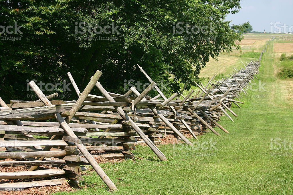 The battlefield fence stock photo