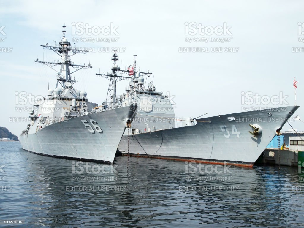 The Battleships In The United States Navy stock photo