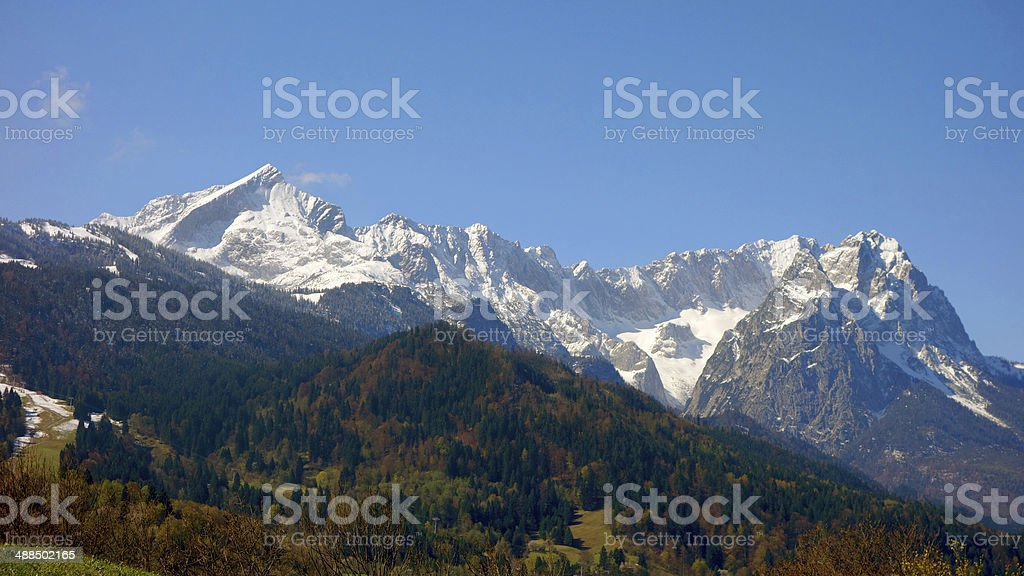 The Bavarian Alps royalty-free stock photo