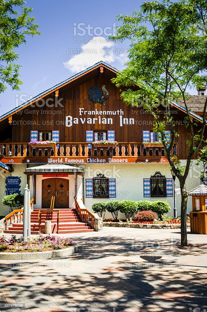 The Bavarian Inn Restaurant in Frankenmuth MI stock photo