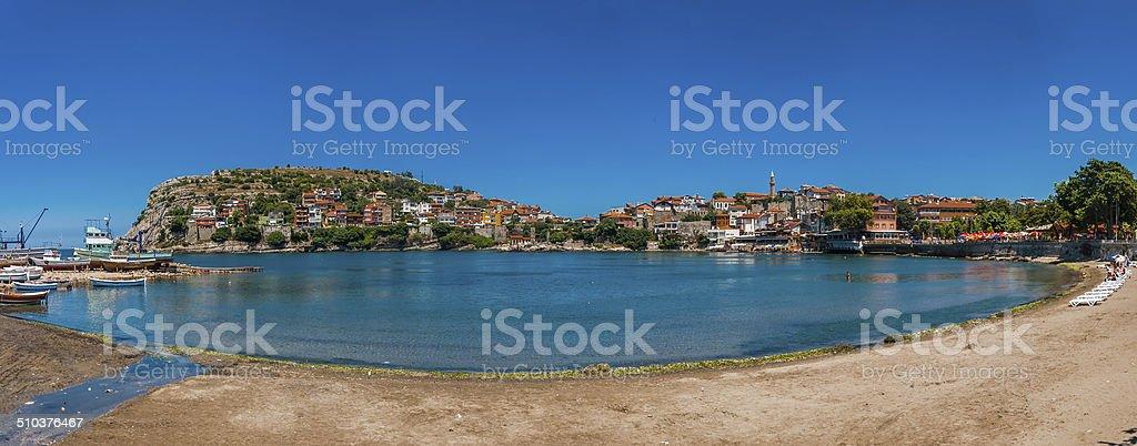 The bay of Amasra Panorama royalty-free stock photo