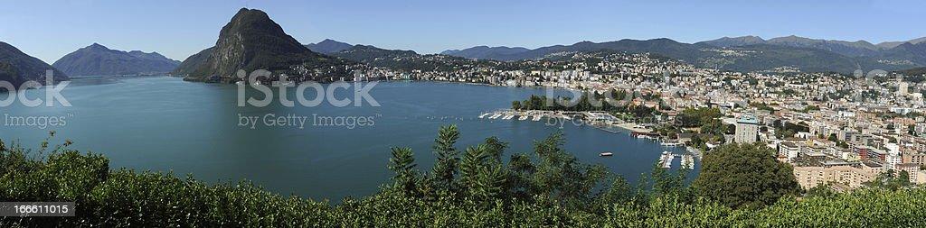The bay of Lugano royalty-free stock photo