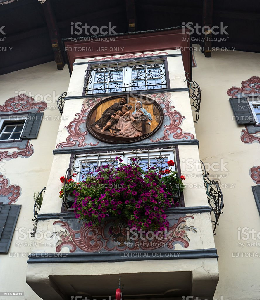 St. Johann, Austria - October 13, 2016: The bay window stock photo