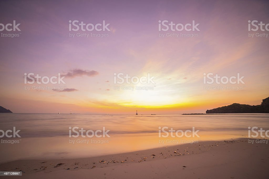 the beach and tropical sea stock photo