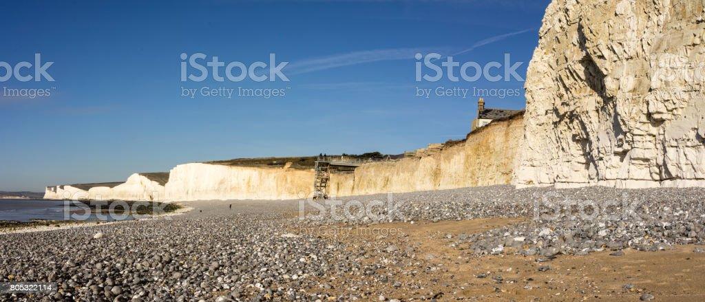 The beach at Birling Gap stock photo