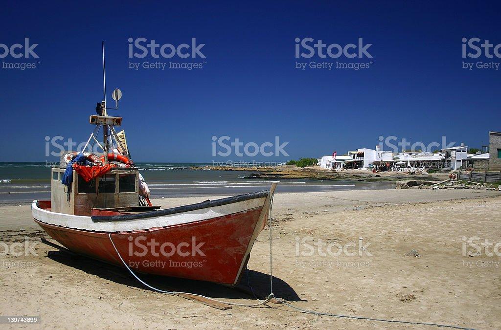 The beach at Cabo Polonio, Uruguay royalty-free stock photo