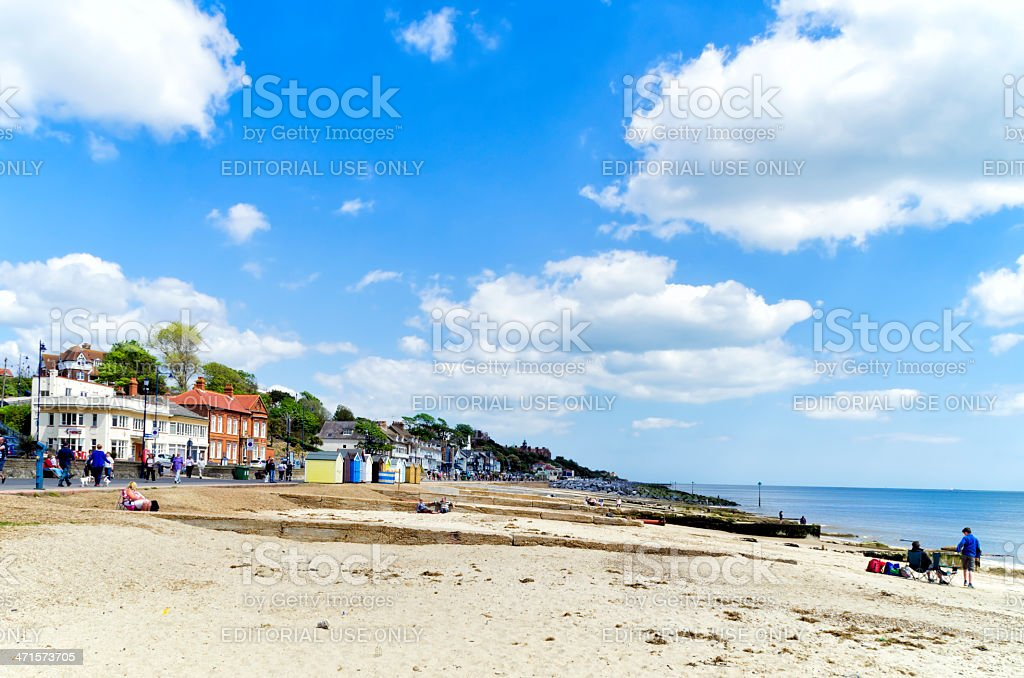 The beach at Felixstowe stock photo