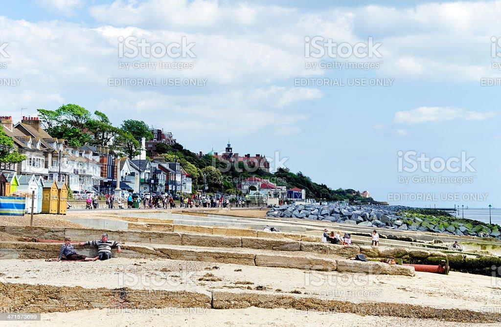 The beach at Felixstowe, Suffolk stock photo