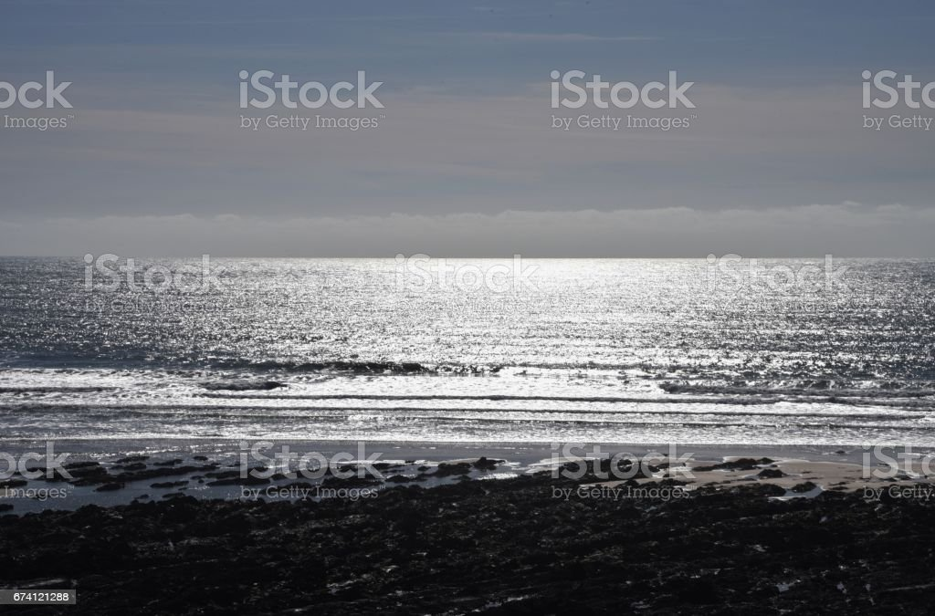 The Beach at Freshwater West, South Pembrokeshire, Wales, UK stock photo