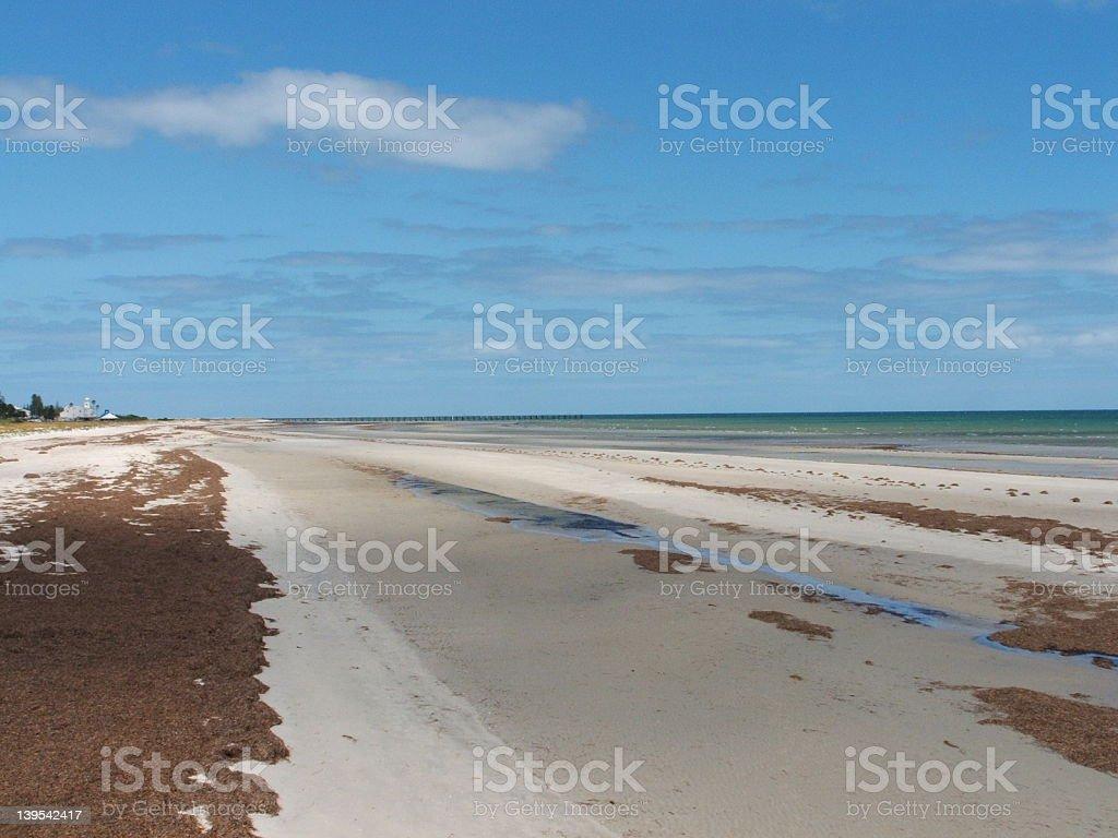 The Beach at Largs Bay royalty-free stock photo